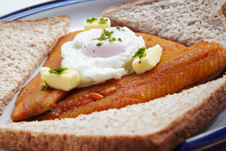 Kippers and a Poached Egg