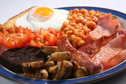 Delicious Full Cumbrian Breakfast